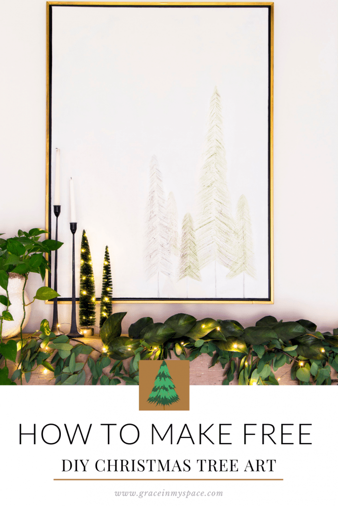 How to Make DIY Christmas Tree Art