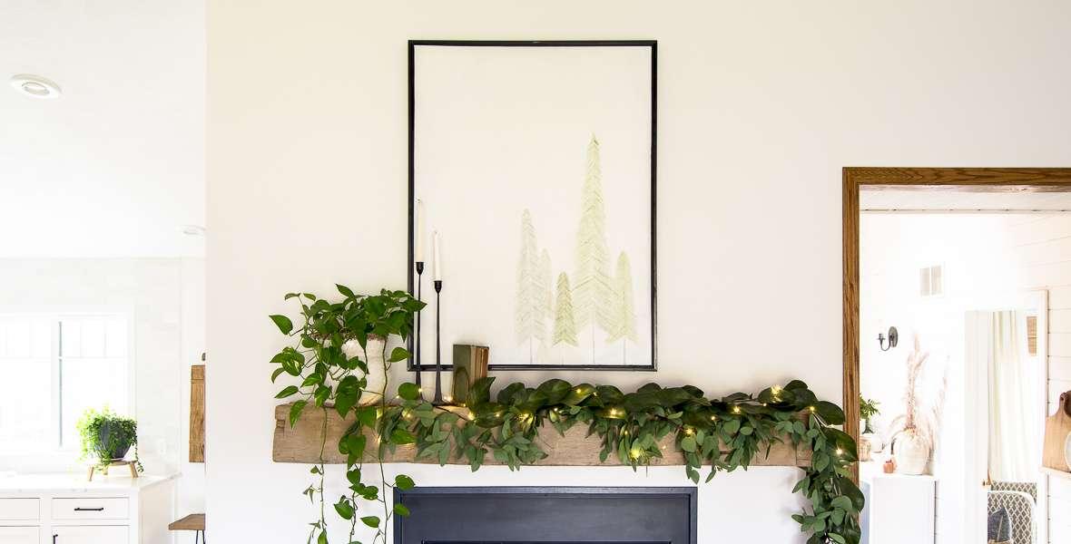 How to Make DIY Christmas Tree Art
