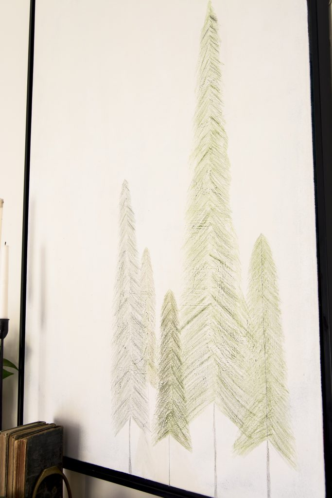 Simple Christmas tree drawings.