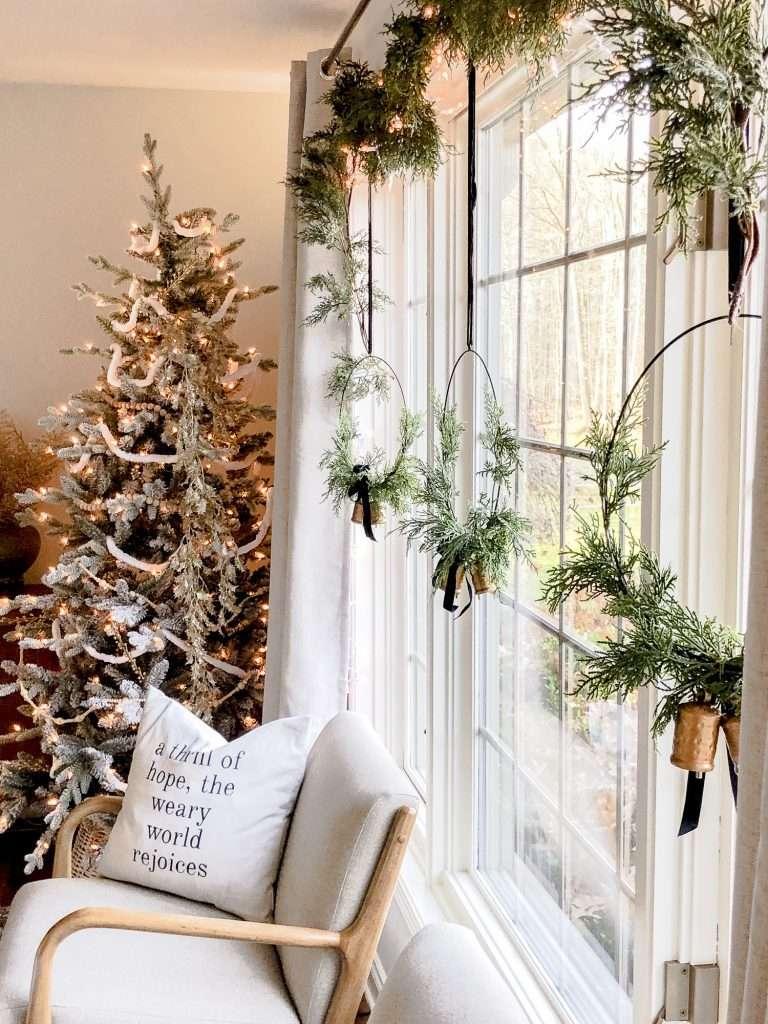 Cozy window hangings.