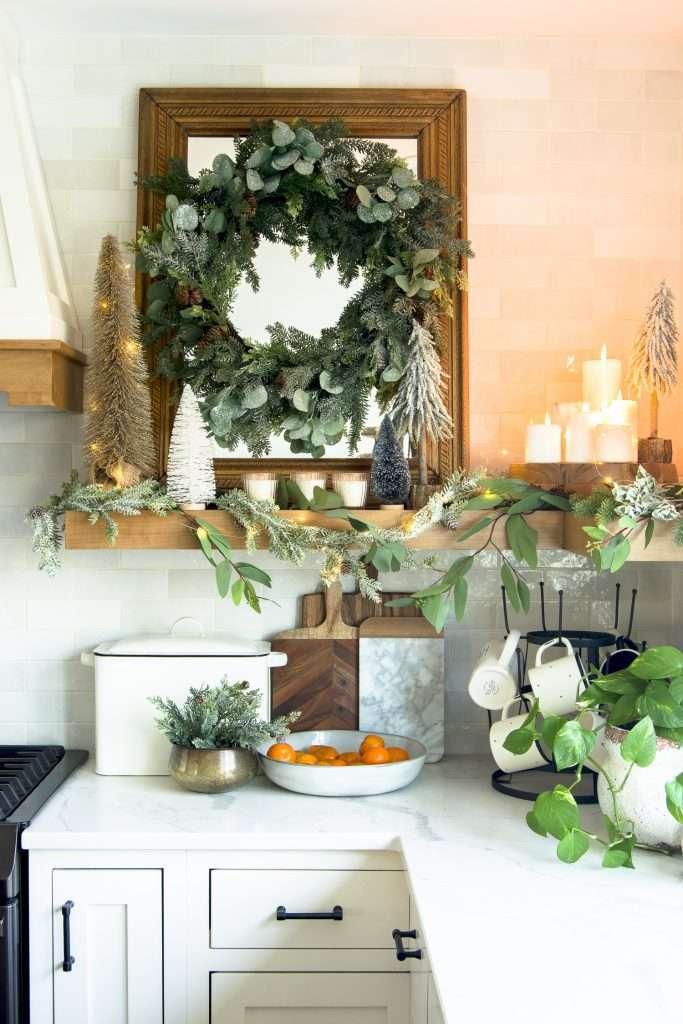 Christmas shelf decor