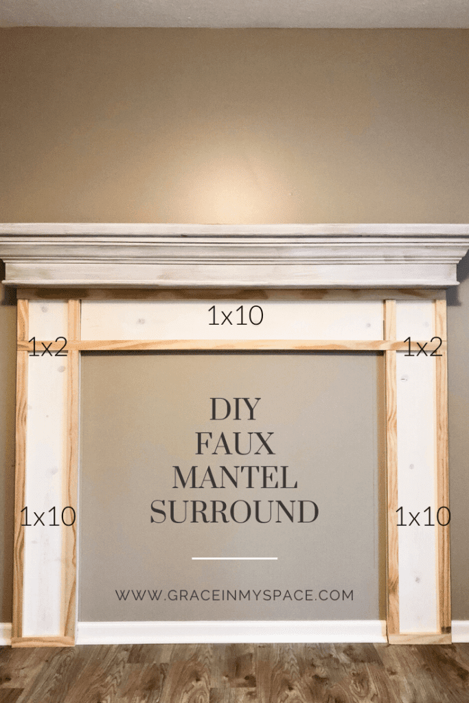 DIY Faux mantel tutorial