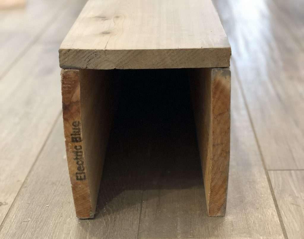 Beginner faux wood beams