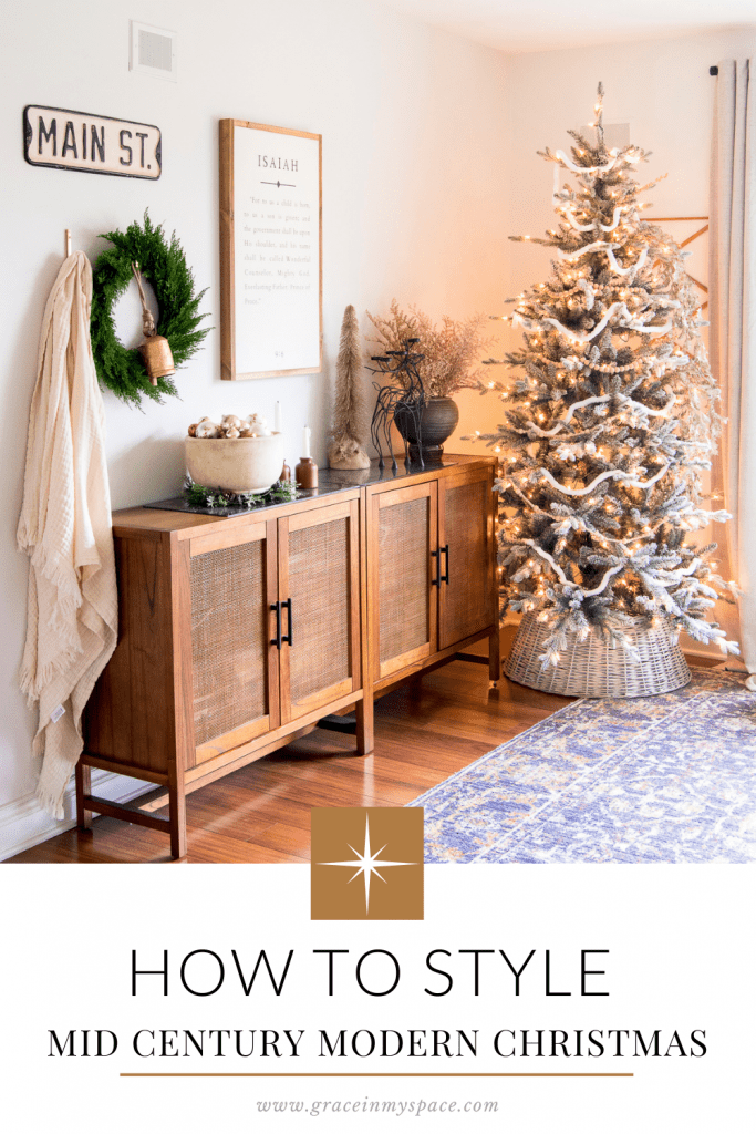 Mid Century Modern Christmas Styling