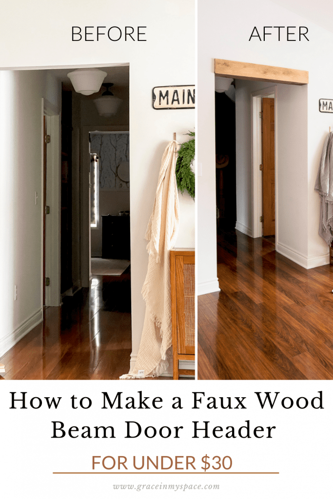 How to Make a Faux Wood Beam Door Header