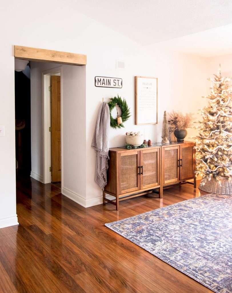 Wood beam door header
