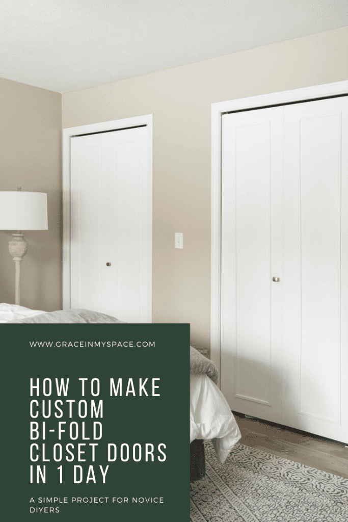 How to make custom bifold doors.