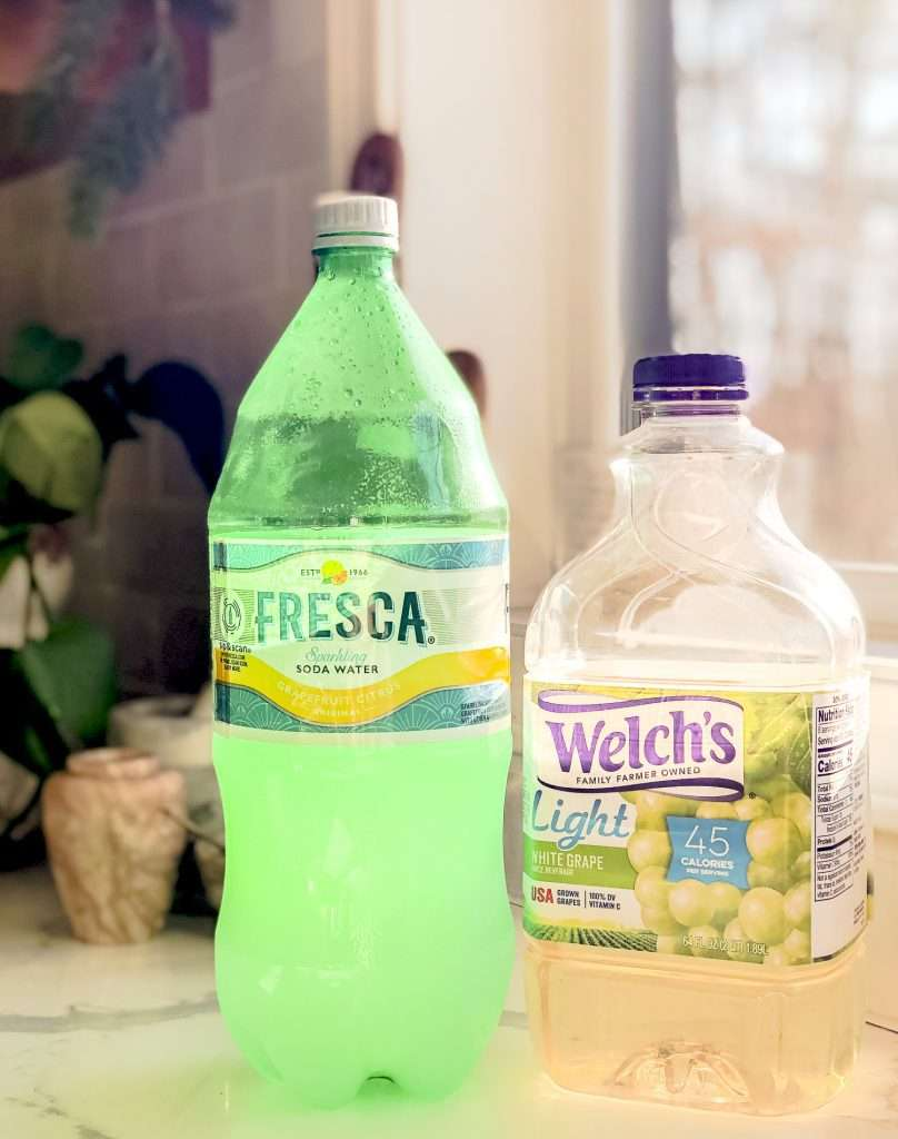 Fresca and white grape juice