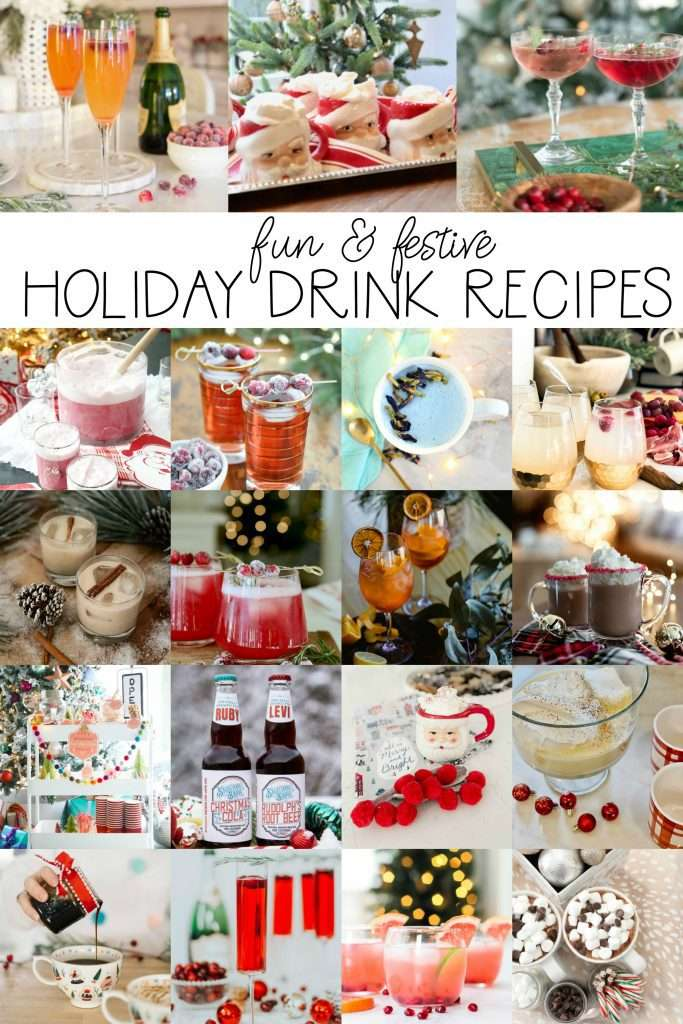 Holiday drink idea collage