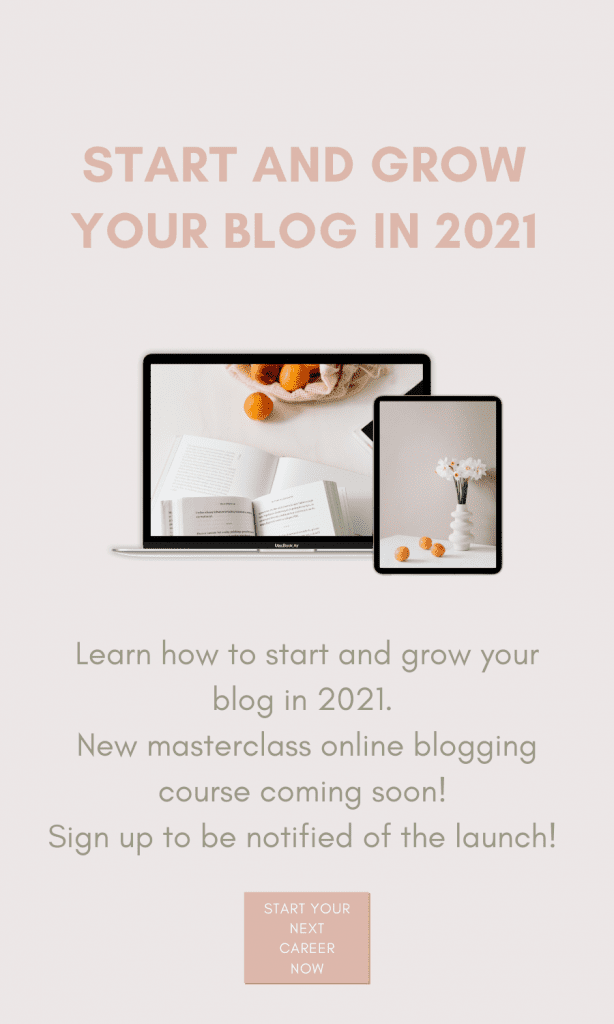 Are you tired of courses that don't give you the details you need to be successful? Sign up for my masterclass blogging course to start your career!