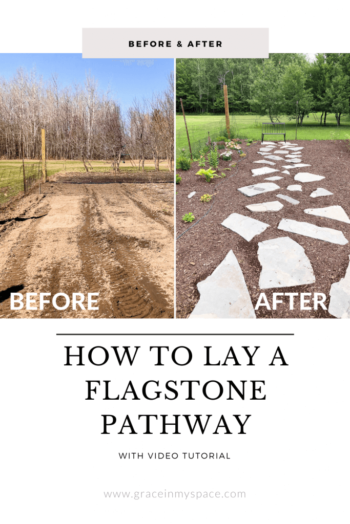 How to lay a flagstone pathway.