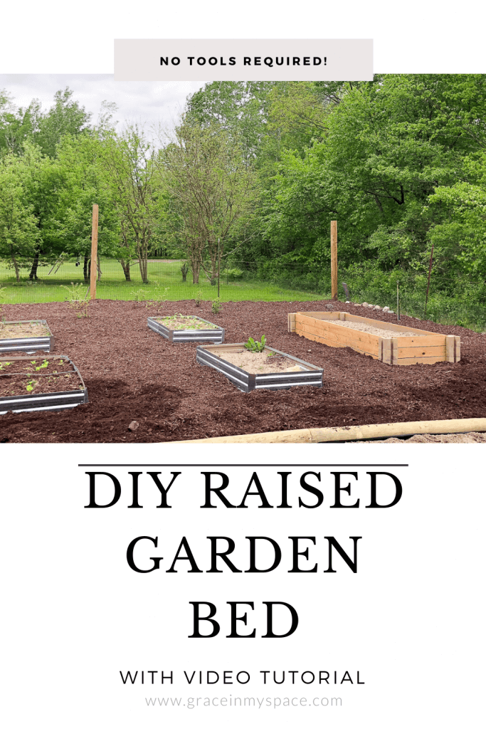 DIY raised garden bed.