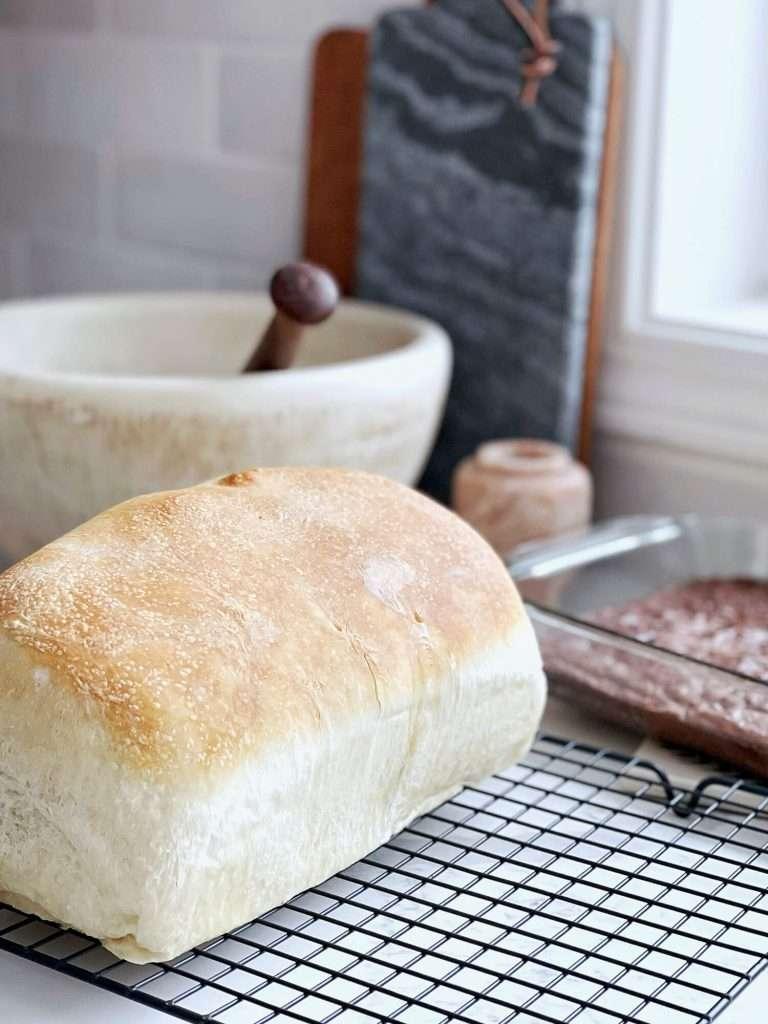 fresh bread in a kitchen.