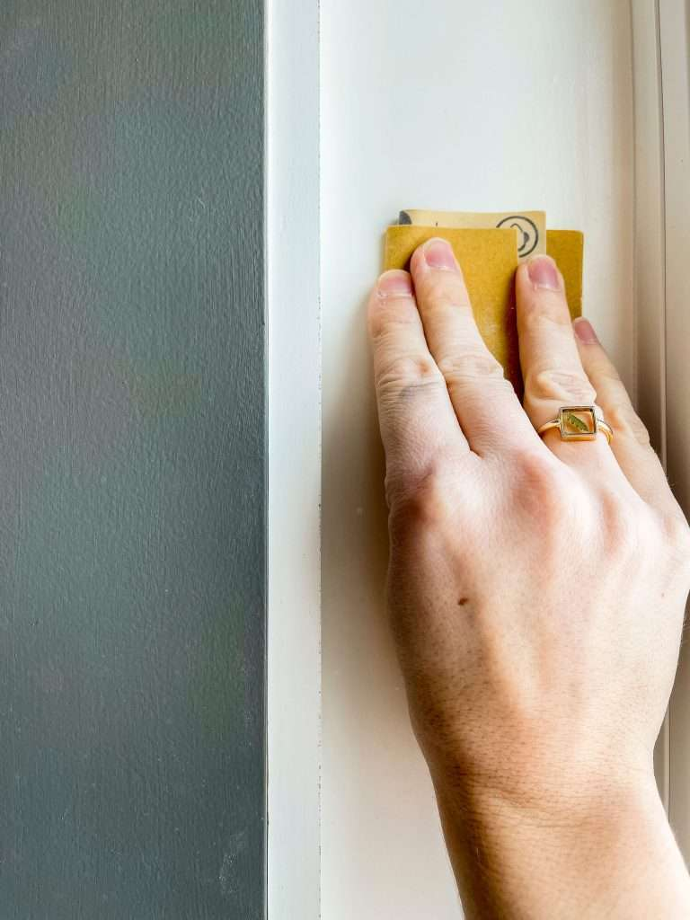 How to paint trim without brush strokes by sanding well.