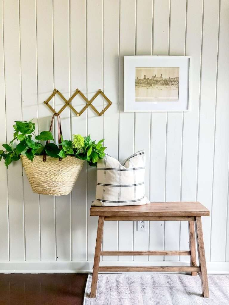 Painted shiplap Entryway