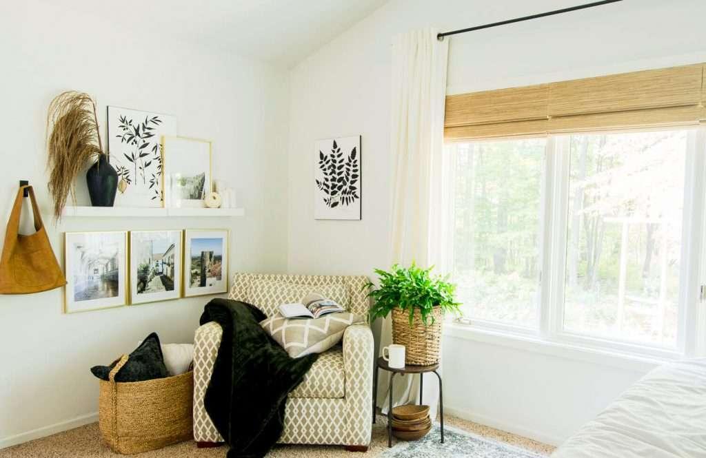 Bedroom corner chair.