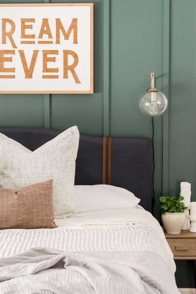 DIY upholstered bed frame makeover.