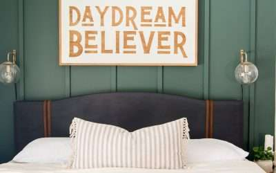 Painted DIY Upholstered Bed Frame Makeover