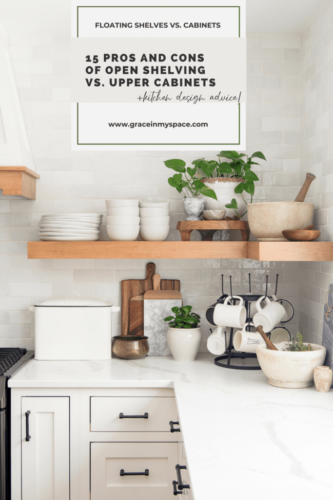 15 Pros & Cons of Floating Kitchen Shelves vs. Cabinets