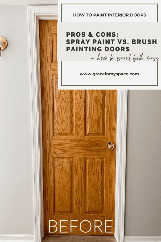 spray paint vs. brush interior doors