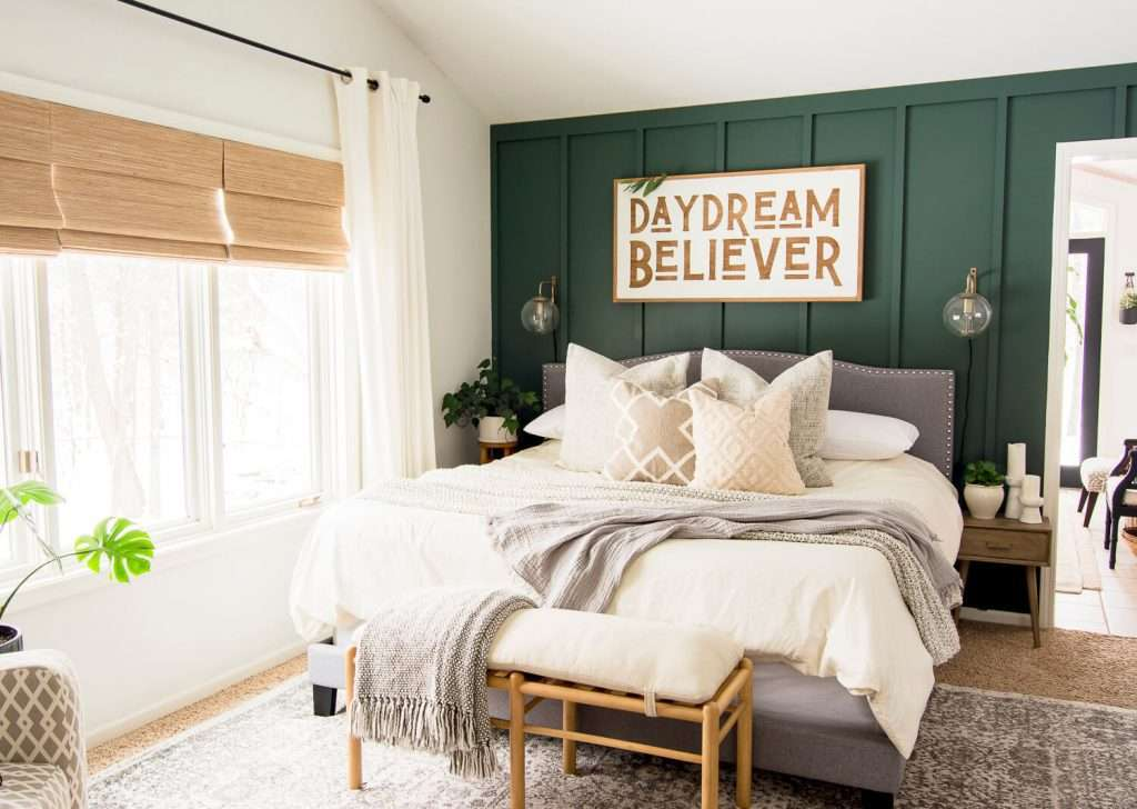 How To Decorate A Green Accent Wall In The Bedroom Grace In My Space