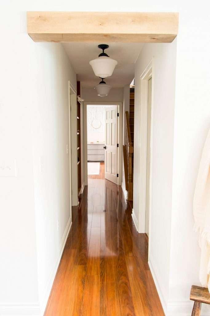 Hallway full of doors.