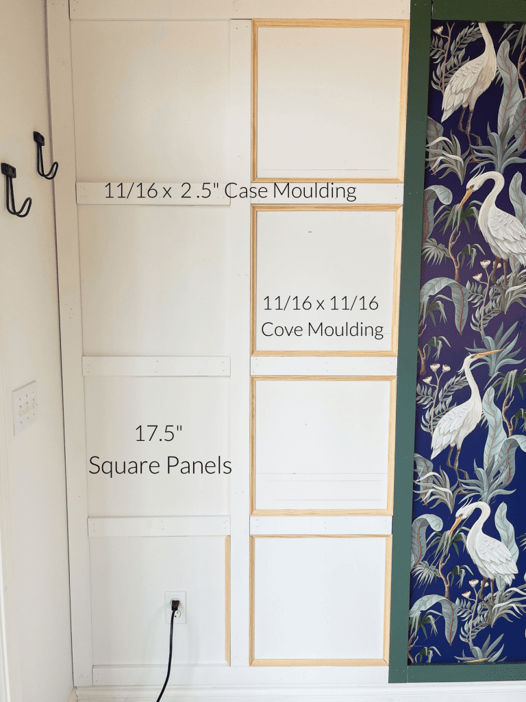 Measurements for wainscoting wall
