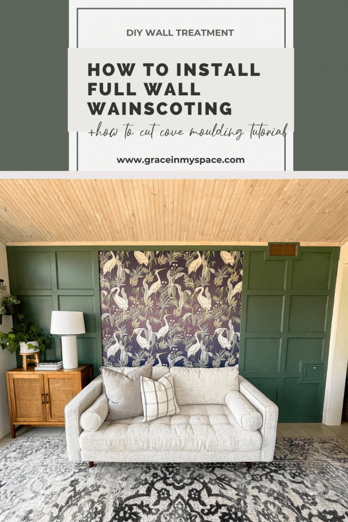 How to Install Full Wall Wainscoting with Cove Moulding