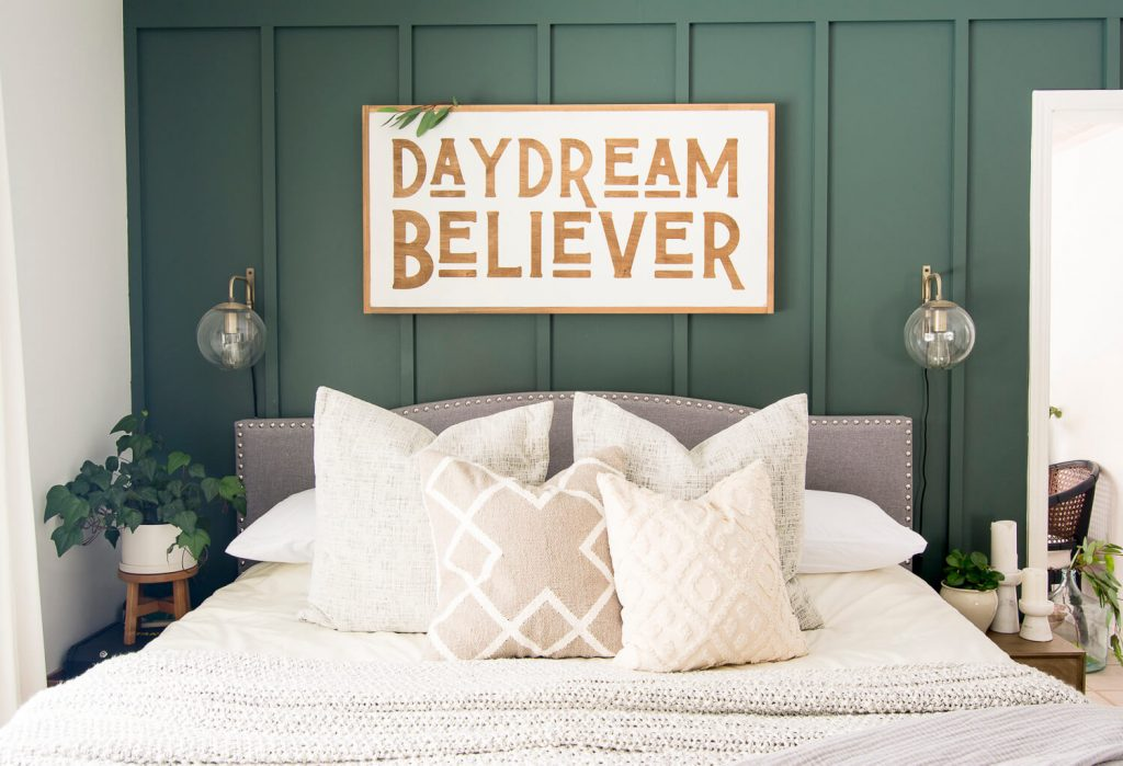 White and cream pillows