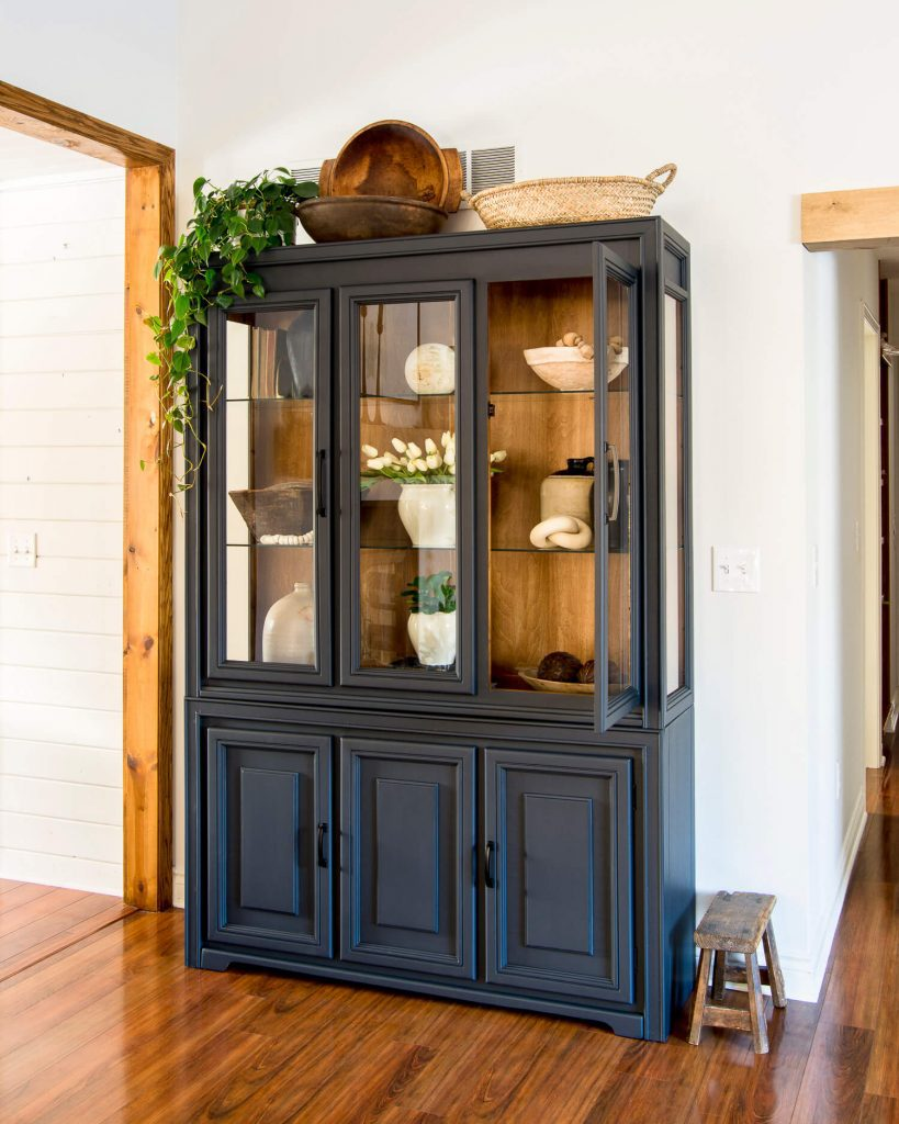 Cabinet with plants as decor
