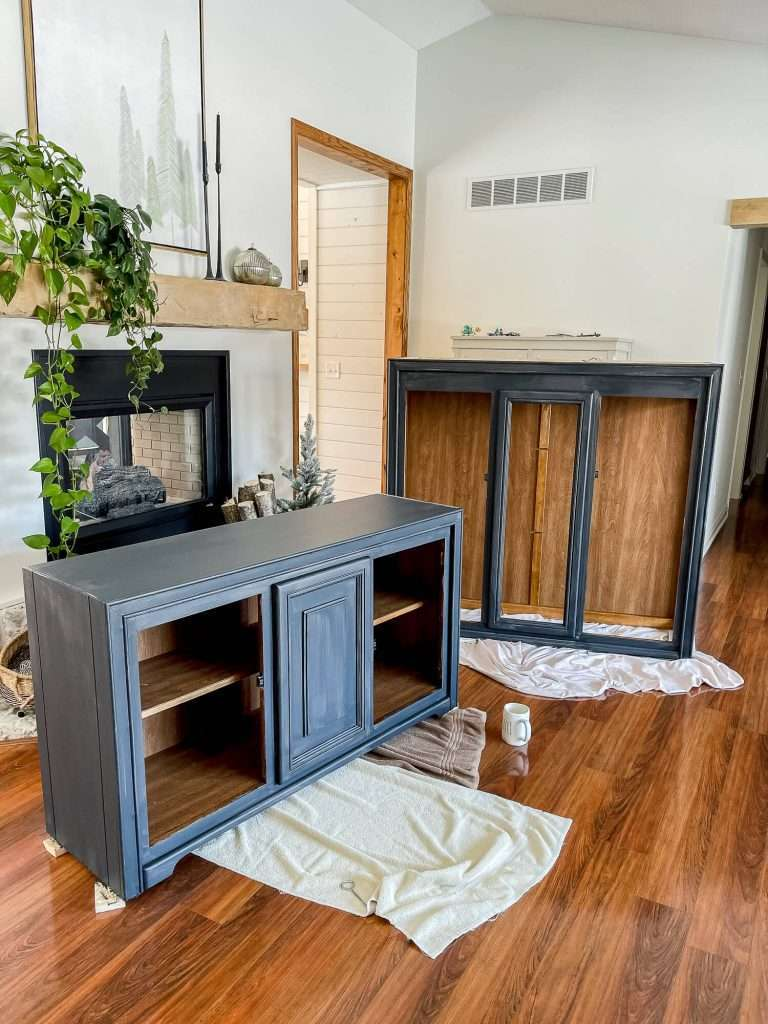 Painting wood furniture without sanding.