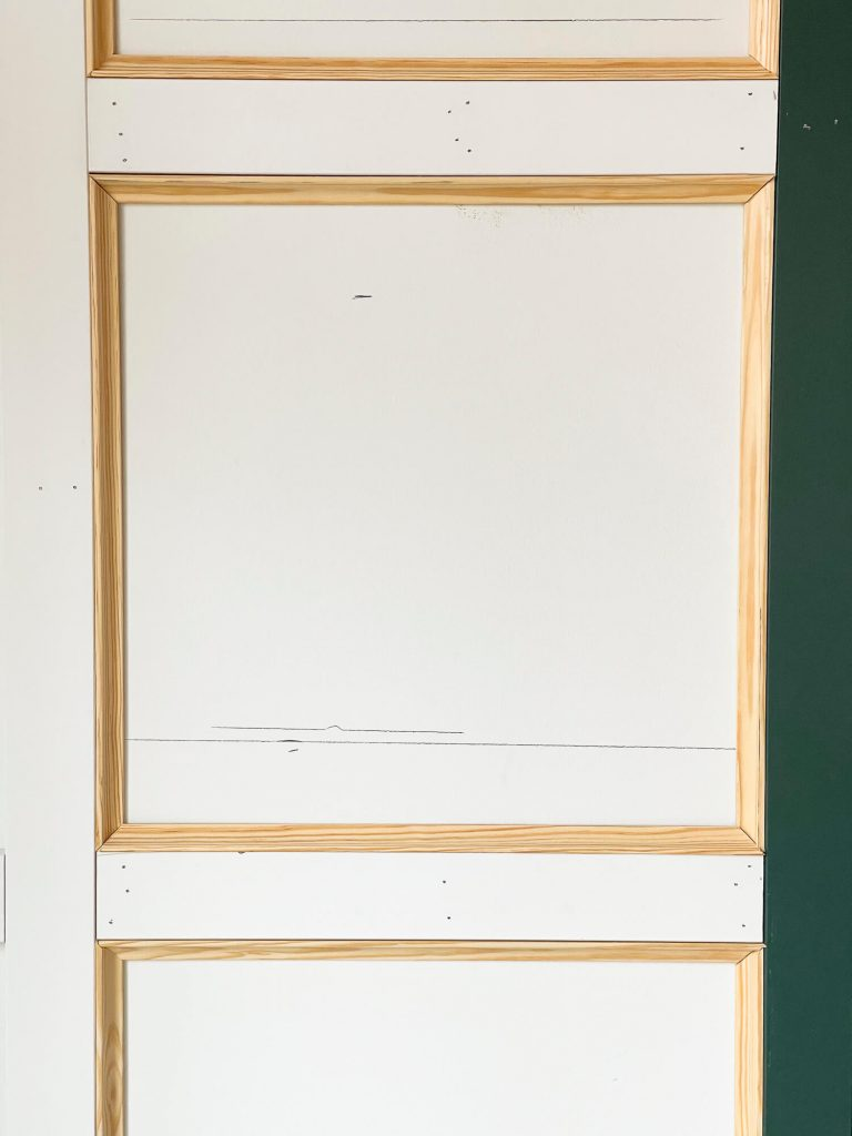 Cove moulding inside wainscoting