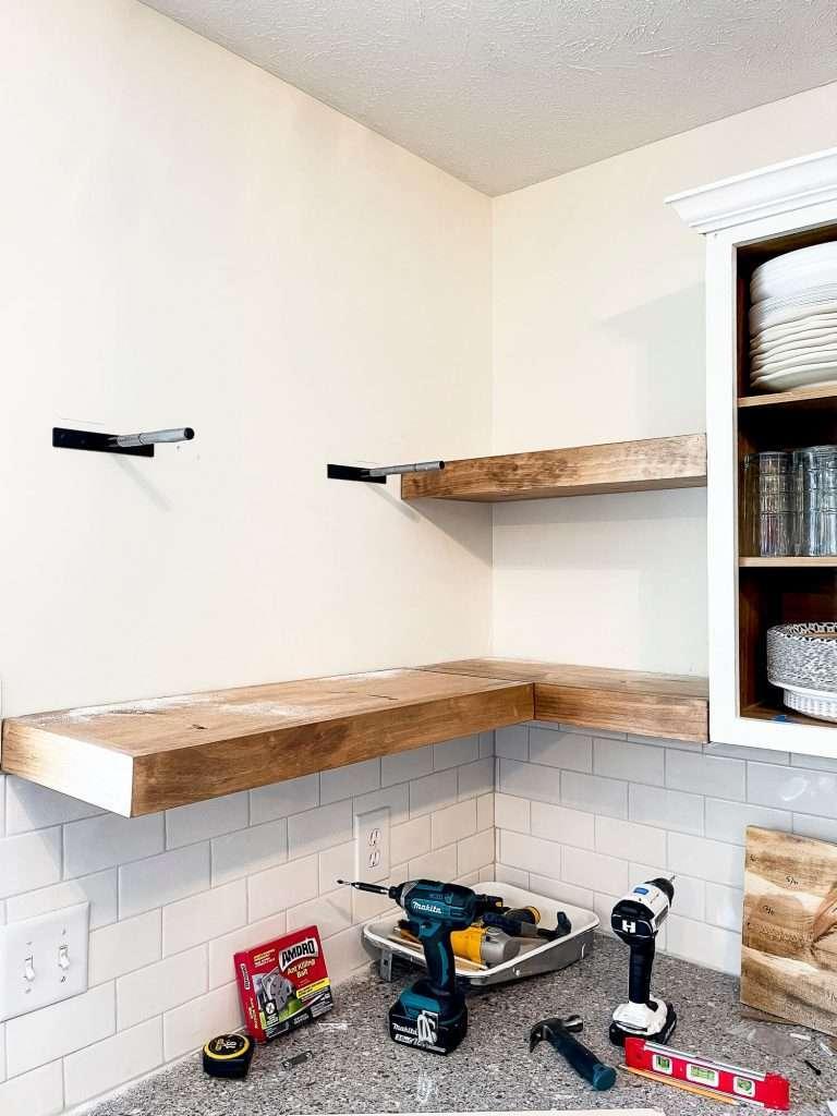 Kitchen shelving installation