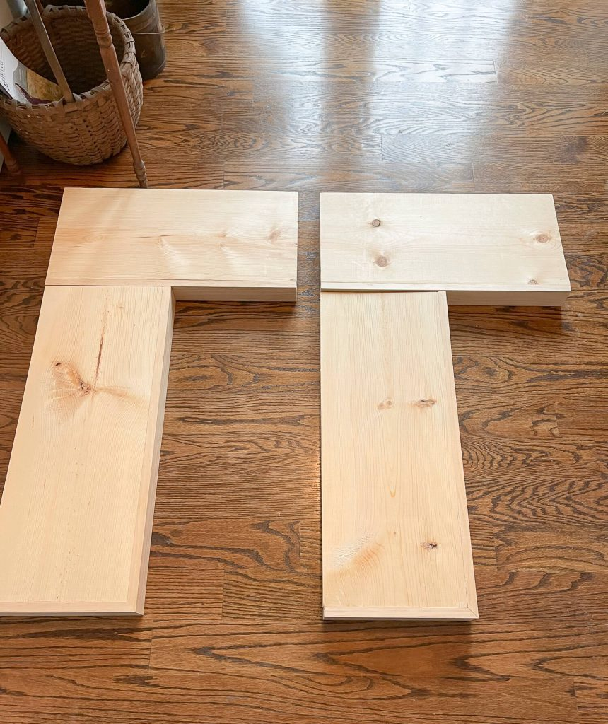 4 single floating shelves