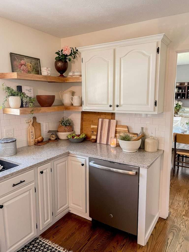 upper cabinet replacement with shelving