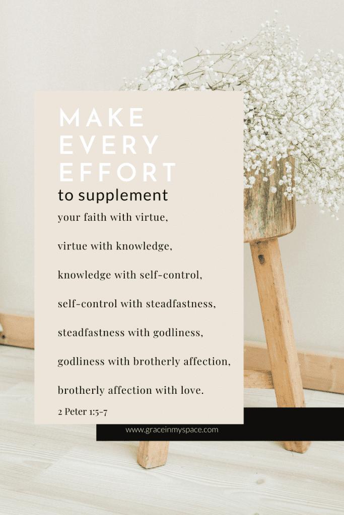 Make every effort verse printable