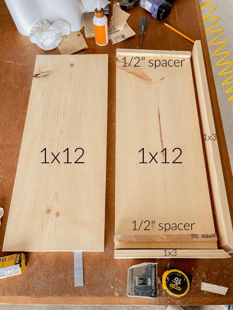 Measurements for DIY Floating kitchen shelves