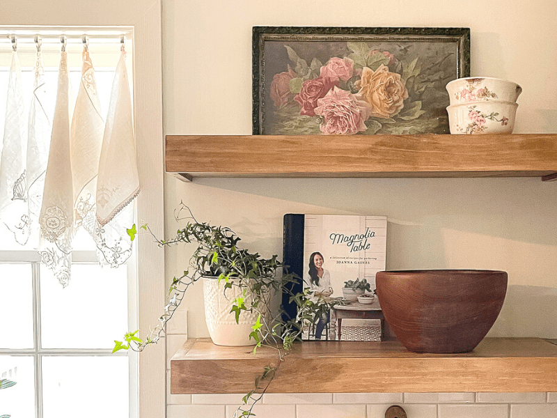 How to Make DIY Floating Kitchen Shelves