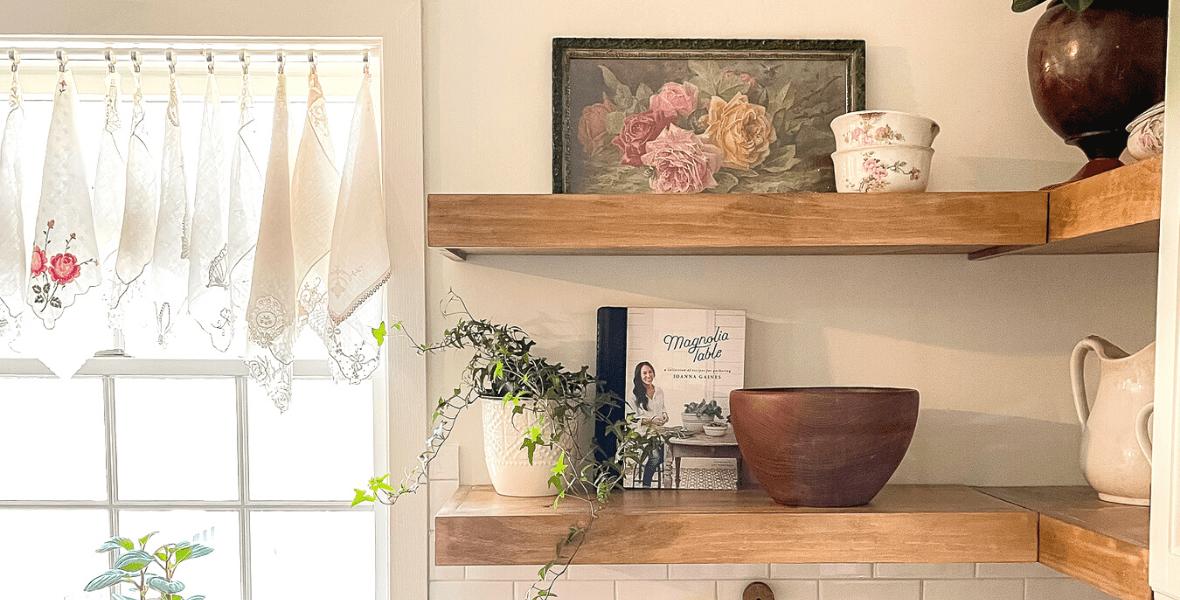 How to Make DIY Floating Kitchen Shelves
