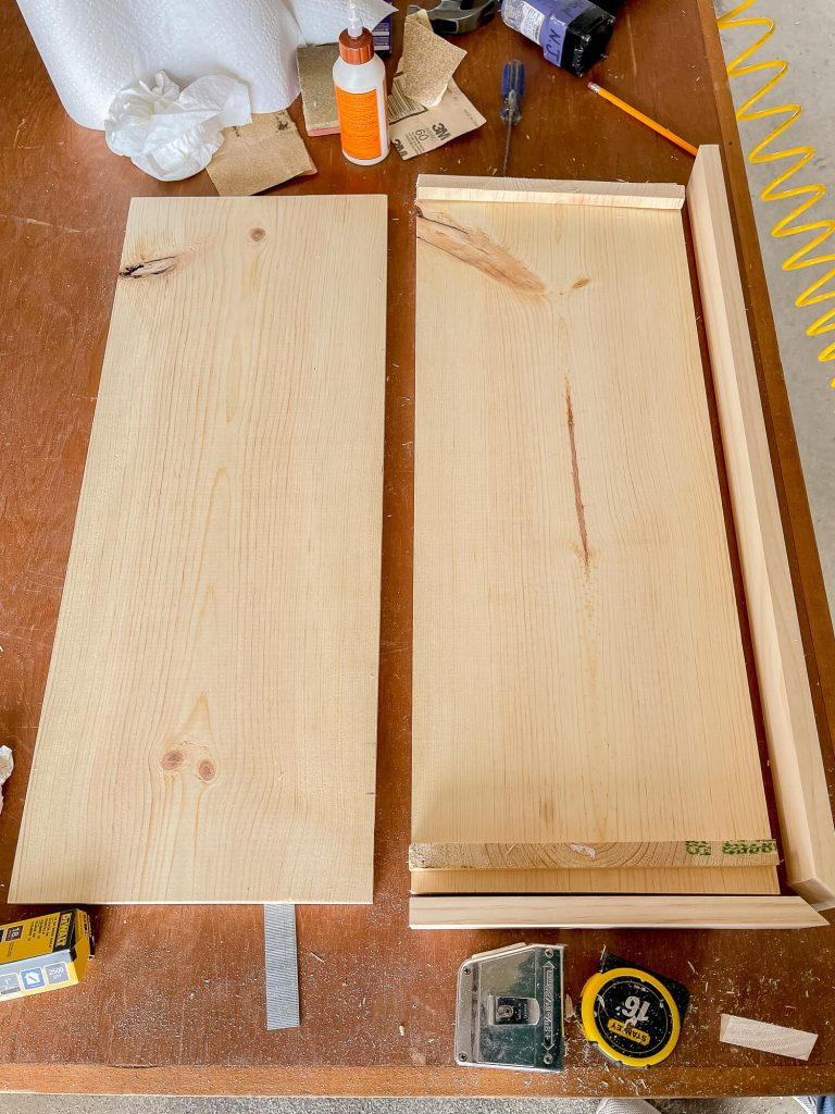 Scrap wood to make floating shelves