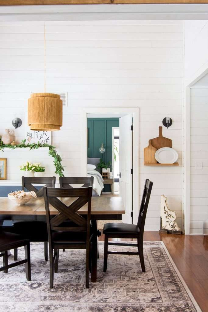 Dining room with cottagecore elements.