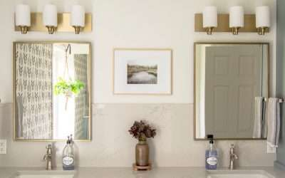 Bathroom finishes in mixed metals