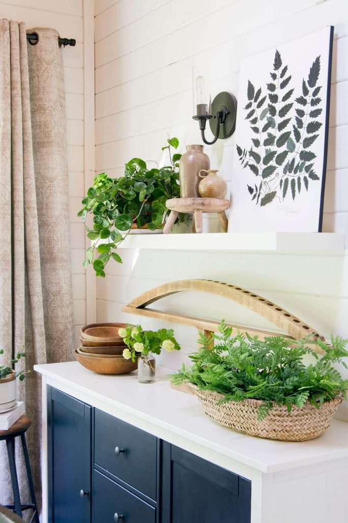 Organic home decor pieces using vintage accents.