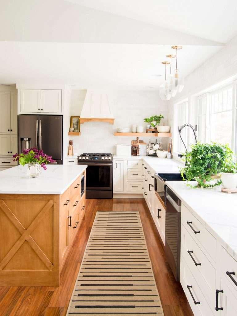 Modern farmhouse kitchen layout