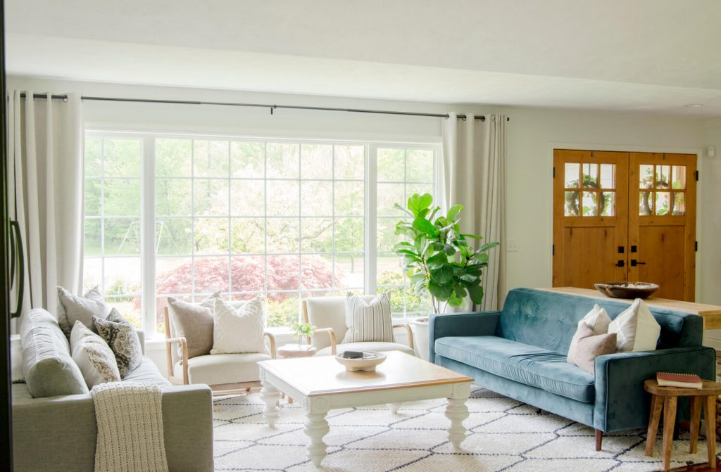 Organic modern living room design