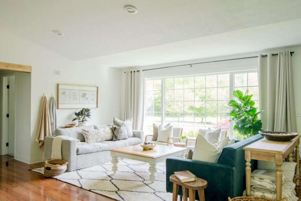 Organic modern living room furniture