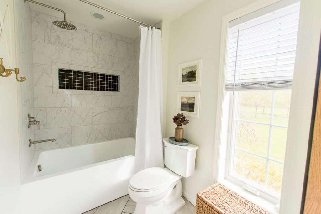 Renovated tile shower