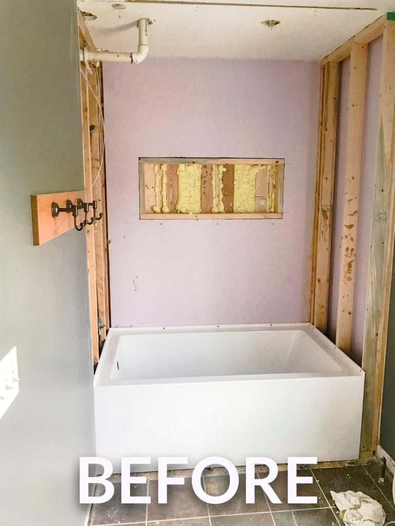 reframing shower walls.