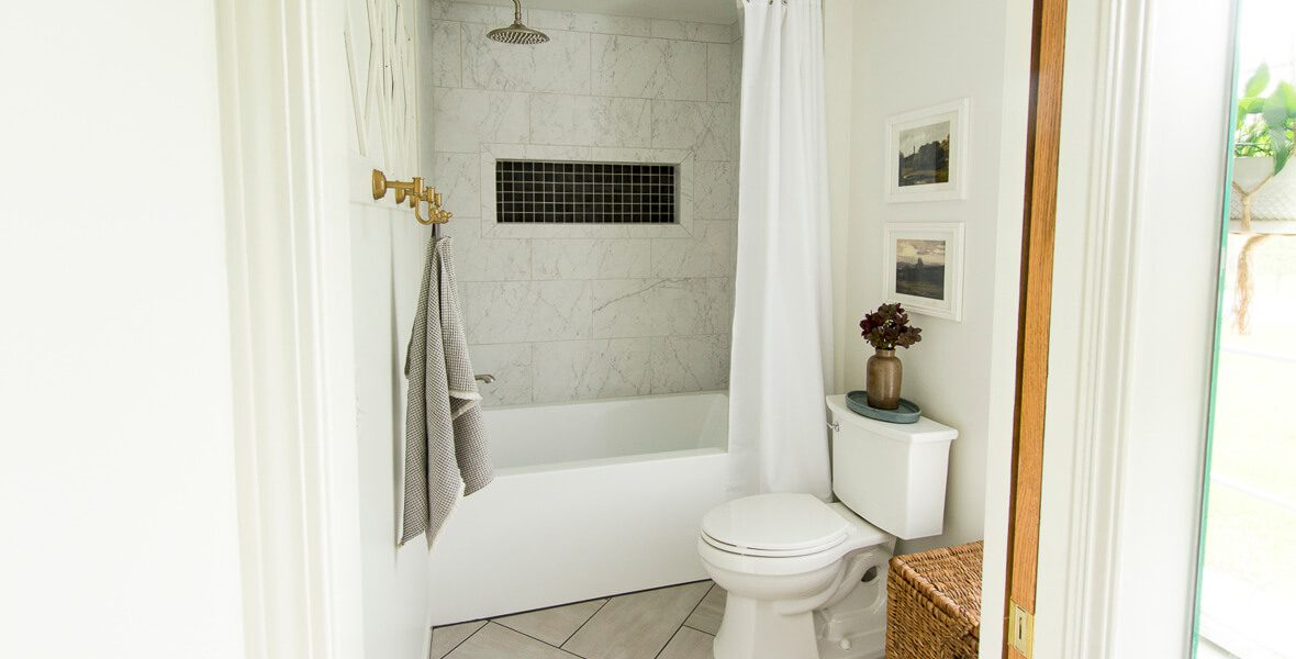 Shower tub combination