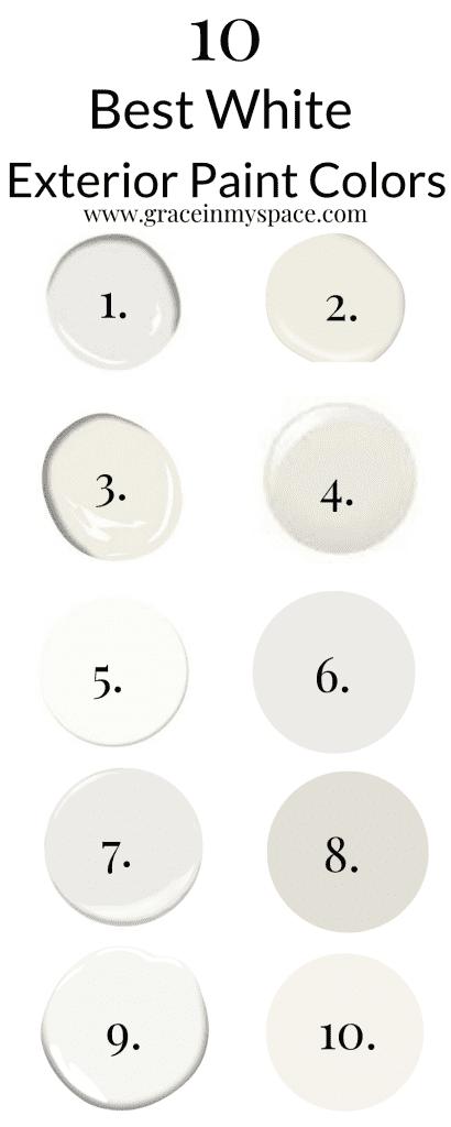 10 Best Exterior White Paint Colors